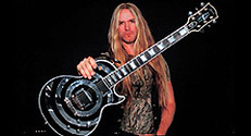 "Zack Wylde and his ""Wylde"" guitar by Jim Steinfeldt"